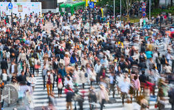 Shibuya pedestrian crossing with crowd. This area is known as one of the fashion centers of Japan, particularly for young people, Stock Photography