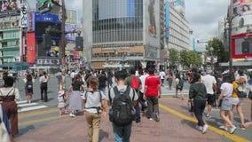 Shibuya que cruza Tokio almacen de video