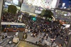 Shibuya skrzyżowanie, Tokio Fotografia Royalty Free