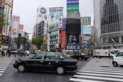 Shibuya som korsar Tokyo Royaltyfri Fotografi