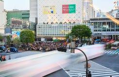 Shibuya som korsar Tokyo Japan Royaltyfria Bilder