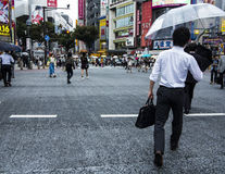 Shibuya station crossing Stock Photo
