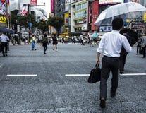 Shibuya station crossing Stock Photo