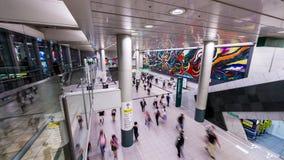 Shibuya Station, Tokyo, Japan. TOKYO, JAPAN - AUGUST 5, 2015: Shibuya Station interior. It is Japan's fourth busiest station stock video