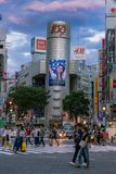 Shibuya at sunrise royalty free stock image