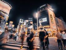 SHIBUYA TOKYO JAPAN - 29 JULI, 2018: Voetgangersmensen crossw Stock Fotografie