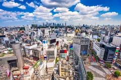 Shibuya, Tokyo, Japan. Skyline and crosswalk Stock Photos
