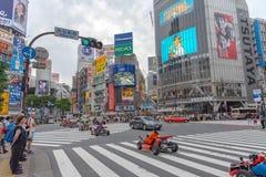 Shibuya, Tokyo, Japon - 30 avril 2018 : Kart de Mario sur le secteur de Shibuya à Tokyo, Japon images libres de droits
