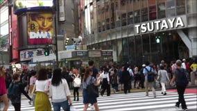 Shibuyastraat Tokyo Japan stock videobeelden