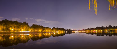 A Shichahai Park Fall Night Scenes, Beijing Stock Images
