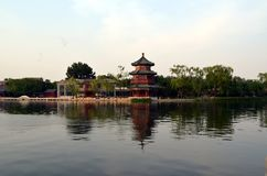 Shichahai Scenic Area The area is the capital of the old Beijing style to preserve the most perfect place. Shichahai Scenic Area Beijing china The area is the Royalty Free Stock Photos