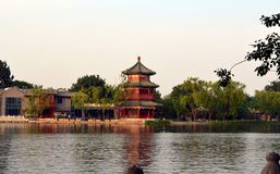 Shichahai Scenic Area The area is the capital of the old Beijing style to preserve the most perfect place. Shichahai Scenic Area Beijing china The area is the Royalty Free Stock Images