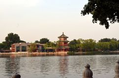 Shichahai Scenic Area The area is the capital of the old Beijing style to preserve the most perfect place. Shichahai Scenic Area Beijing china The area is the stock photography
