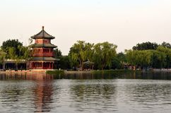 Shichahai Scenic Area The area is the capital of the old Beijing style to preserve the most perfect place. Shichahai Scenic Area Beijing china The area is the royalty free stock image