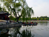 Shichahai Scenic Area to preserve the most perfect place. Shichahai Scenic Area The area is the capital of the old Beijing style to preserve the most perfect Stock Images