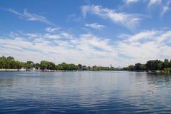 Shichahai sjö av Peking Royaltyfri Bild