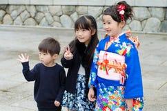 Shichi去圣在成田,日本 免版税图库摄影