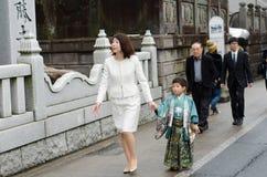 Shichi去圣在成田,日本 免版税库存照片