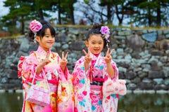 Shichi去圣;段落传统礼拜式在日本 库存照片