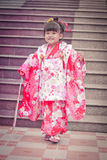 3 (Shichi-aller-san) - costume Photographie stock libre de droits
