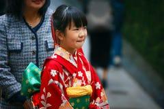 Shichi-aller-San ; Rite traditionnel de passage au Japon Photo libre de droits