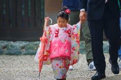 Shichi-aller-San ; Rite traditionnel de passage au Japon Images stock