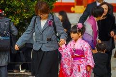 Shichi-aller-San ; Rite traditionnel de passage au Japon Image stock