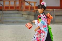 Shichi-aller-San ; Rite traditionnel de passage au Japon Photographie stock libre de droits