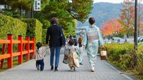 Shichi-aller-San ; Rite traditionnel de passage au Japon Photographie stock