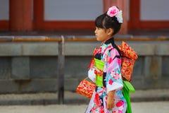 Shichi-aller-San ; Rite traditionnel de passage au Japon Photos libres de droits