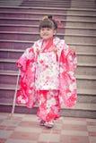 3 (Shichi-andare-san) - costume Fotografia Stock Libera da Diritti