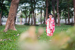 7 5, 3 (Shichi-gå-san) - dräkt Arkivfoto
