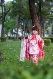 7 5, 3 (Shichi-gå-san) - dräkt Royaltyfri Fotografi