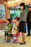 Shichi-gehen-San; Traditioneller Ritus des Durchganges in Japan lizenzfreie stockfotografie