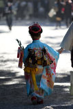 Shichi-go-san. Or 七五三 is a festival and traditionally a day for right of passage at the ages of 3, 5 and 7. Held on the 15th of November, originally it Royalty Free Stock Photo