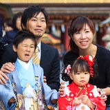Shichi-go-san celebration at Dazaifu Tenmangu Royalty Free Stock Photo