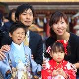 Shichi-go-san celebration at Dazaifu Tenmangu. FUKUOKA, JAPAN - NOVEMBER 13: Shichi-go-san in Fukuoka, Japan on November 13, 2013. Traditional rite of passage Royalty Free Stock Photo
