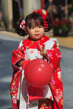 Shichi-go-san celebration at Dazaifu Tenmangu Stock Photo