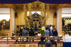Shichi-go-san celebration at Dazaifu Tenmangu. TOKYO, JAPAN - NOVEMBER 25: Shichi-go-san in Tokyo, Japan on November 25, 2013. A Group of unidentified monks with Stock Photos