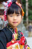 Shichi-go-san celebration at Hiroshima Gokoku Shrine Royalty Free Stock Photography
