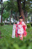 7, 5, 3 (Shichi-go-san)-costume Royalty Free Stock Photography