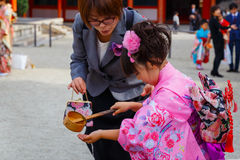 Shichi-go-san; Traditional rite of passage in Japan Stock Image