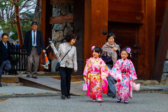 Shichi-go-san; Traditional rite of passage in Japan Royalty Free Stock Photography