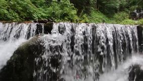 Shidot waterfall, one of the most beautiful waterfalls in the Ukrainian Carpathians stock video footage