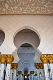 Sheikh Zayed Mosque Arch Hallway, Ceiling Stock Photos