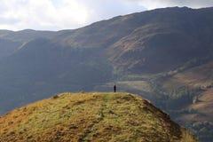 Shiel озера, Шотландия, ландшафт, горы Стоковое Изображение RF