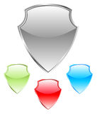 Shield. Vector illustration of shield with different colors Royalty Free Stock Photos