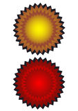 Shield. Two shields in white background eps Royalty Free Stock Photos