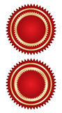 Shield. Red shields  in white color background eps Royalty Free Stock Photos