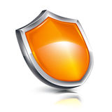 Shield. Icon, isolated on white Stock Image